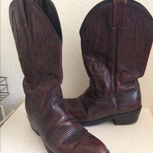 Vintage Dan Post Cowboy boots leather men's sz 8.5